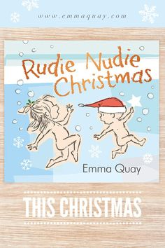 """Rudie Nudie Christmas"" by Emma Quay (ABC Books) - It's Christmas Eve and two little rudie nudies are on the run again! From bestselling author-illustrator Emma Quay comes the perfect book to share this holiday season. In bookshops from 7 Oct 2020. Following on from the award-winning and bestselling ""Rudie Nudie"". www.emmaquay.com #rudienudie #rudienudiechristmas #emmaquay #picturebook #christmasbook Christmas Illustration, Children's Book Illustration, Vintage Children's Books, Vintage Kids, Christmas Books, Christmas Eve, Holiday, Words Of Comfort, Children's Picture Books"