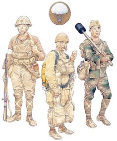 "Esercito Imperiale Nipponico -  ""IJA Airborne Troops, 1944-45""  • Kaoru Airborne Raiding Detachment; Leyte operation, Nov 26, 1944  • 2nd Raiding Bde; Leyte operation, Dec 6, 1944  • Giretsu Airborne Unit; Okinawa operation, May 24, 1945"