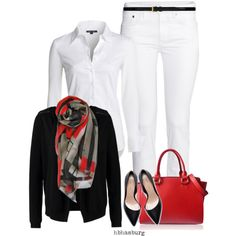 A fashion look from August 2014 featuring NIC+ZOE tops, Vero Moda cardigans and H&M jeans. Browse and shop related looks.