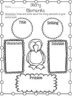 FREE Winter Story Elements Printable: K-2nd
