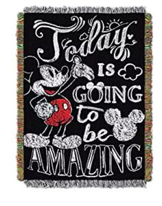 Disney Discovery- Mickey Mouse Amazing Day Tapestry Throw