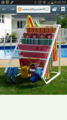 PVC pipe towel rack. Smaller version for camping/ drying rack