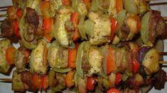 Šťavnaté ražniči s kuracím mäsom, slaninkou a cibuľou
