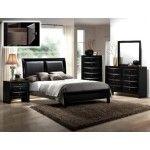 Crown Mark - Emily 5 Piece Bedroom Platform California Bed Set in Black - B4280-CK-5SET