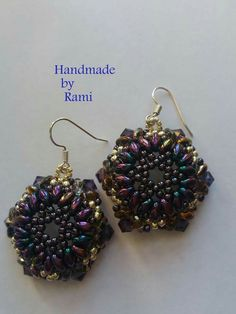 #orecchini #beadedearrings #madeinitaly #handmade #handmadebyRami #lemaddinecreano #lemaddineperlinano #madeinFacebook