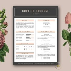 Creative Resume Template | 3 page CV Template and FREE Cover Letter | Minimalist Resume for MS Word & iWork Pages | Instant Digital Download ★ BotanicaPaperieShop
