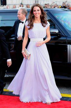 Kate Middleton Alexander McQueen lilac chiffon gown