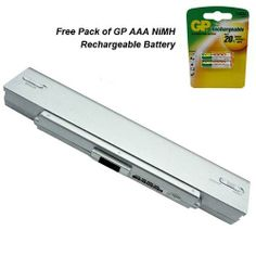 Sony Vaio VGN-CR240 Laptop Battery - Premium Powerwarehouse Battery 6 Cell 100% OEM Compatible. 12 Month Warranty. Brand New. Free pack of GP AAA Rechargeable NIMH Battery.  #Powerwarehouse #CE