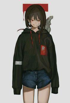 Anime Girl With Short Hair