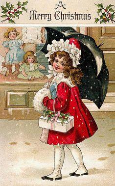 Винтажные рождественские и новогодние открытки с детьми. Обсуждение на LiveInternet - Российский Сервис Онлайн-Дневников