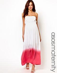 Dresses I'm obsessing over - ASOS Maternity Maxi in Dip-Dye