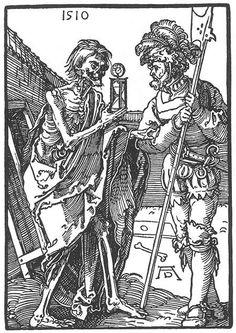 DÜRER, Albrecht Death and the Landsknecht 1510 Woodcut British Museum, London