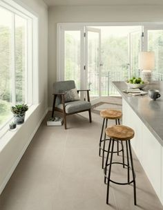 For those looking for a warmer take on minimalism, the soft neutral hues of Hamble can be used to create a calming atmosphere in a contemporary home.