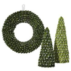 Smith & Hawken™ Dried Green Trees and Wreath Collection