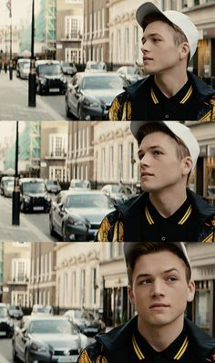 Taron Egerton - That jawline is more structured than my life