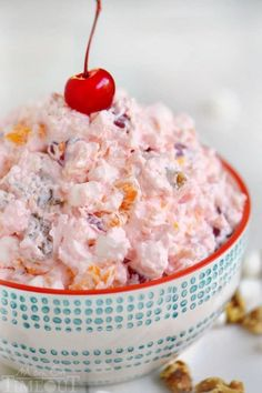 One of my favorite desserts of all time - Ambrosia Salad! So easy to make and always a big hit with kids and adults alike, serve this at your next party!