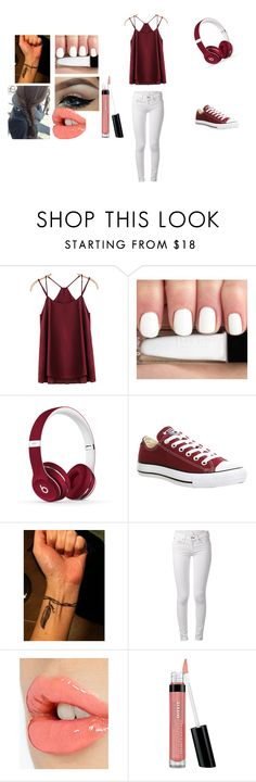 """Untitled #614"" by theultrafighter ❤ liked on Polyvore featuring Beats by Dr. Dre, Converse, rag & bone, Charlotte Tilbury and Bare Escentuals"