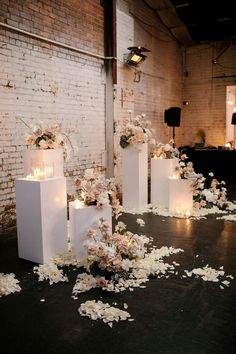 Feb 2020 - Romantic florals contrasted beautifully against this industrial space in Fitzroy. Styling by Ruffles and Bells. Wedding Mood Board, Our Wedding, Dream Wedding, Wedding Bride, Wedding Hair, Wedding Ideas, Wedding Ceremony Decorations, Ceremony Backdrop, Wedding Arches