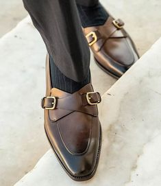 Handmade Men Best Brown Double Monk Leather Dress Shoes, Custom Made Shoes Me Too Shoes, Men's Shoes, Shoe Boots, Shoes Men, Mens Fashion Shoes, Fashion Moda, Blazer Fashion, Men's Fashion, Suede Leather Shoes
