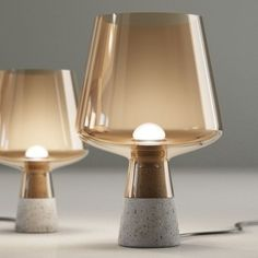 M :: Concrete + Amber Glass https://www.iittala.com/nl/nl/Collections/Iittala/Leimu/Leimu-lamp-UK-380-x-250-mm-copper/p/T130367