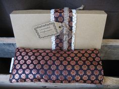 Lavender eye pillow with Indian silk cover  by KusalaGifts on Etsy