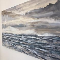 Studio shot of another seascape in the works, by Jeffrey Nemeroff
