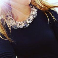 Girocollo ottaviani bijoux  Tempestato di pietre strass e perline un vero bijoux per tutte le occasioni!  Indossabile con una semplicissima t shirt o con un elegante vestito. #look #accessories #accessory #beautiful #beautiful #bling #crystals #cute #fashionista #fashion #fashionjewelry #gem #love #style #stone #stylish
