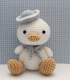 Thursday Handmade Love Week 67 Theme: Sailor Includes links to #free #crochet patterns  Amigurumi Pattern - Lil Quack via Etsy