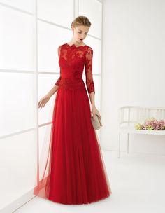Vestidos rojos para madrinas de boda