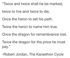 ❤ This is my favorite prophecy because its so dramatic.