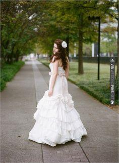 Vera Wang wedding gown with pink sash | CHECK OUT MORE IDEAS AT WEDDINGPINS.NET | #bridesmaids