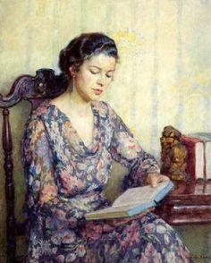 Reading - Lee Lufkin Kaula (1865 – 1957)