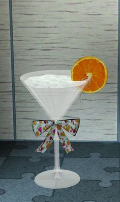 Birthday champagne glass by Angel - Sims 3 Downloads CC Caboodle