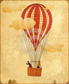Vintage hot air balloon by Brigid Sturgeon, via Dreamstime