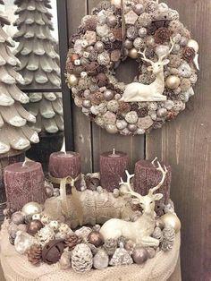 Rose Gold Christmas Decorations, Christmas Advent Wreath, Holiday Wreaths, Xmas Decorations, Christmas Crafts, 242, Christmas Wonderland, Floral, Etsy