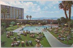 Las Vegas, Nevada Postcard STARDUST HOTEL Swimming Pool Scene c1960s Unused #WeAre