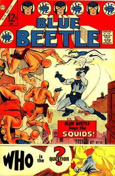 Blue Beetle # silver age charlton comic book cover art by Steve Ditko Comic Book Plus, Comic Book Covers, Comic Book Artists, Comic Books Art, Comic Artist, Dc Comics, Gold Movie, Charlton Comics, Marvel E Dc