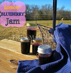 Lemon Blueberry Jam, So Delicious & No Added Pectin. Perfect Consistency To Spread On Toast Or Stir Into Yogurt! #TaylorMadeRanch