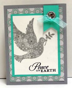 calm christmas, Stampin Up!  Cards by Sandy