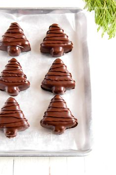 These are the BEST chocolate covered peanut butter trees everand they're so easy to make! Whip some up for that perfect holiday treat! Christmas Desserts, Christmas Treats, Holiday Treats, Christmas Baking, Christmas Recipes, Christmas Cookies, Christmas Candy, Holiday Foods, Holiday Baking
