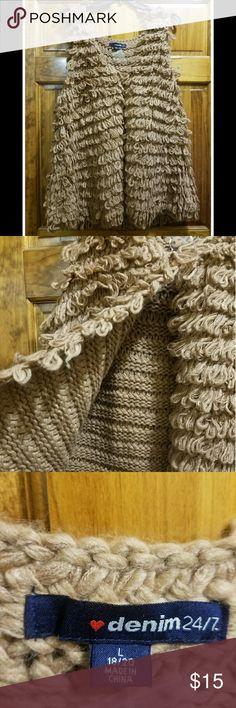 Crochet vest Beautiful crochet vest. Women's Plus Size Large! (18/20)      Nwot Jackets & Coats Vests