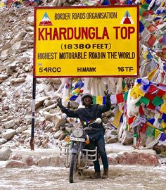Highest motorable road in the world 18380 fts. Oxygen level 50% only. That is incredible india  Picture featured: @Aashu P.C: @aditisethi.dce   Plan your travel with us: Mtgtours +919893208331 Tripswithmtg@gmail.com  #instapic #instamood #picoftheday #picture #photographer #travel #travelling #khardungla #highest #landscape #himalayas #travelgram #entrepreneur #passion #toughestterrain #mountains #royalenfield #beauty #trip #instatravel #vacations #ladakh #incredibleindia #life…