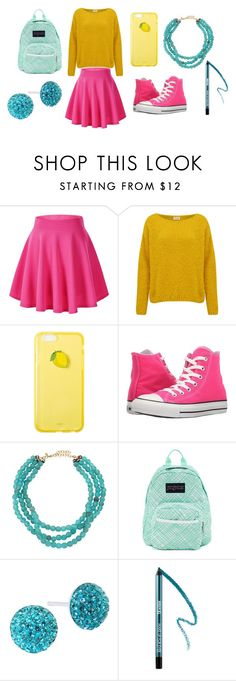 """ALL THE COLOURS!"" by lorelai-265 on Polyvore featuring American Vintage, Converse, Jonesy Wood, JanSport, Bridge Jewelry and MAKE UP FOR EVER"
