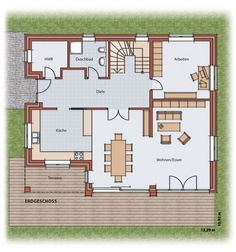 Haus und Grundriss Ground floor villa, villa, family house The Quick And Easy Guide To Kitchen Cabin Buy Kitchen, Home Repair, Ground Floor, Home Depot, Home Interior Design, House Plans, Floor Plans, Construction, Cottage