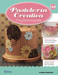 In this weeks issue of we show you how to create a using your brand new, stencil. We also show you how to sculpt Cake Decorating Magazine, Metallic Cake, Steampunk Clock, Beautiful Cakes, Cupcake Cakes, Sculpting, Stencils, Wilton, Yummy Food