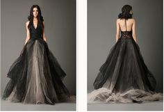 Oregon Black Halloween-inspired wedding gowns