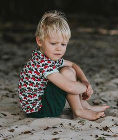 Duns Sweden s/s Tee Radish - Jade Retro Baby Clothes - Baby Boy clothes - Danish Baby Clothes - Smafolk - Toddler clothing - Baby Clothing - Baby clothes Online