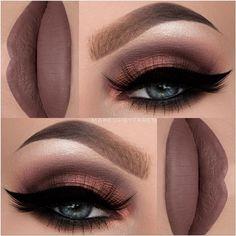Sombra e batom tons rosê @makeupbytaren - LacreMania - Google+