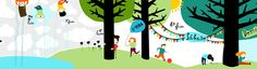 #anaseixas #kidscornerillustration #illustration #digital #children #outdoors #typography
