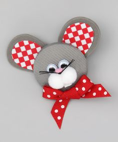Take a look at this Gray Mouse Clip by Picture Perfect Hair Bows on today! Even though you can buy these but these are also great craft idea! Ribbon Hair Clips, Ribbon Art, Ribbon Hair Bows, Ribbon Crafts, Fancy Bows, Cute Bows, Ribbon Sculpture, Hair Decorations, Making Hair Bows